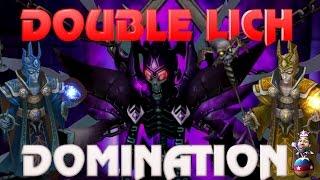 summoners war   my necro b10 team double lich domination