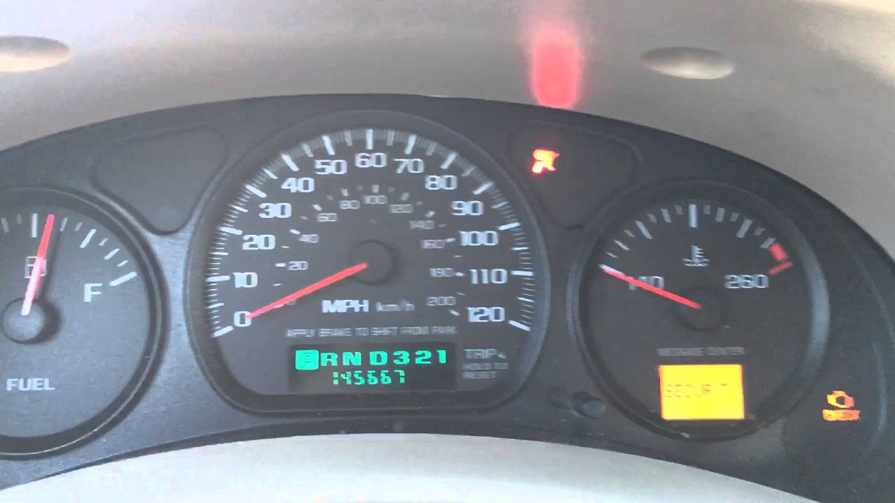 Chevy Impala Oil Reset