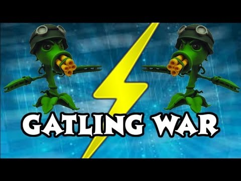 Plants vs Zombies Garden Warfare - Retro Gatling vs Pea Gatling (Peashooter Abilities)