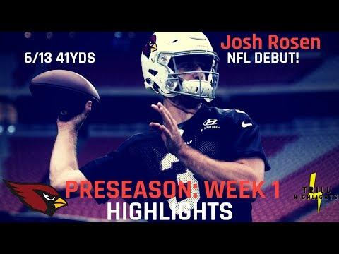 Josh Rosen Preseason Week 1 Highlights | Shaky Debut 08.11.2018