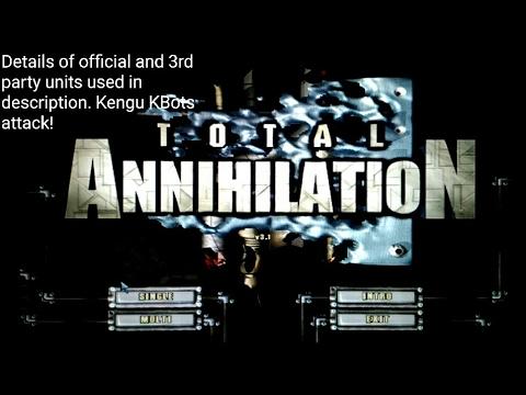 PC Total Annihilation mod G2, 1P gameplay ARM vs CORE, Skirmish on Lava Mania, Kengus attack!