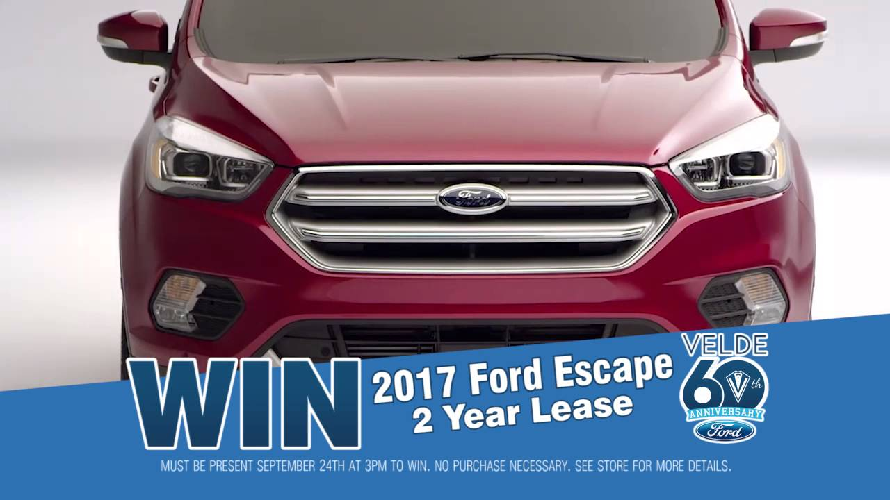 Velde Ford 60th Anniversary Celebration 2017 Escape Giveaway