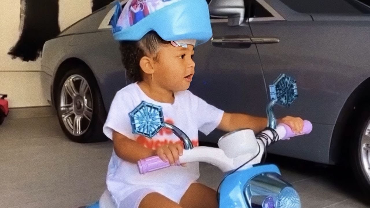 Stormi Rides a Bicycle