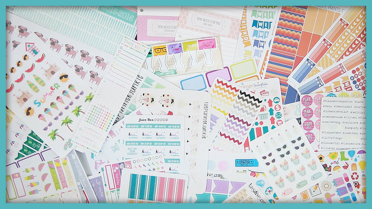 My 15 favorite etsy shops for planner stickers for For planner