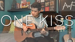 calvin harris dua lipa one kiss cover fingerstyle guitar