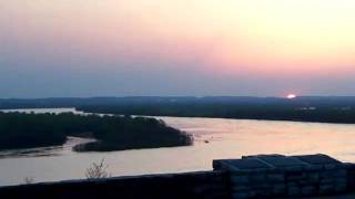 Sunset over the Mississippi River from Fort Kaskaskia overlook