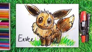 Как насовать последнего ПОКЕМОНА Eevee / урок рисования для детей