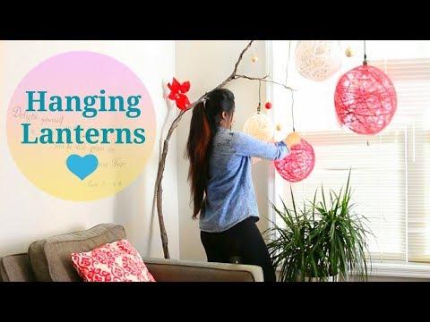Amazing Yarn Lanterns! DIY || How to make HANGING LIGHTS for Christmas