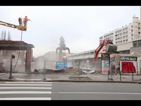 Les dernières démolitions dévoilent le prolongement de l'avenue Henri-Barbusse
