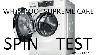 Whirlpool Supreme Care Washing Machine - Spin Test
