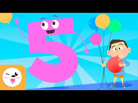 Number 5 - Learn to Count - Numbers from 1 to 10 - The Number 5 Song