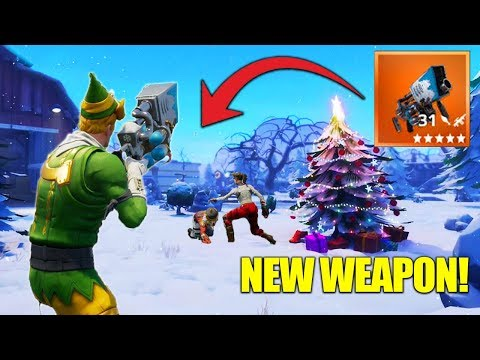 The LEGENDARY SnowBall Launcher! Fortnite Christmas Update + New Weapon!