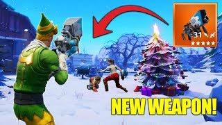 The LEGENDARY SnowBall Launcher! Fortnite Christmas Update + New Weapon! thumbnail