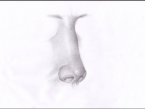 How to draw a nose. Как рисовать НОС ЧЕЛОВЕКА ВПОЛОБОРОТА карандашом. Урок 63