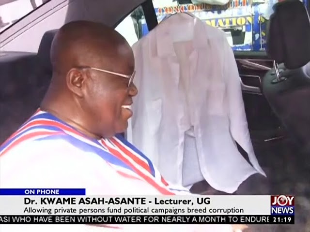 Political Party Funding - PM Express on JoyNews (4-10-18)