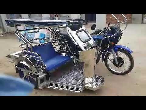 My new Kawasaki barako 175 matic (Marley) 2018 with semi lowerd stainless  sidecar