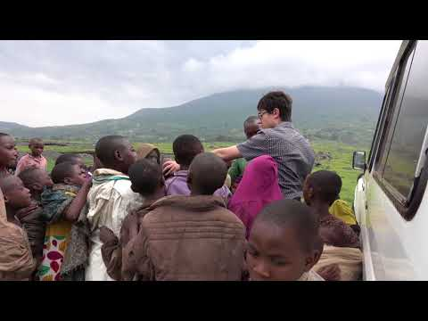 Eli performs magic trick in Africa