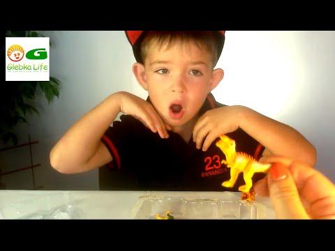 Игрушечные динозавры. Обзор игрушек : открываем набор динозавров.
