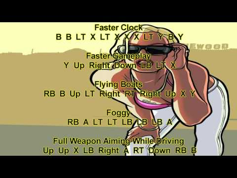 Grand Theft Auto San Andreas Xbox 360 Cheats