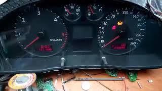 Проверка приборной панели Audi A4  8D0920900