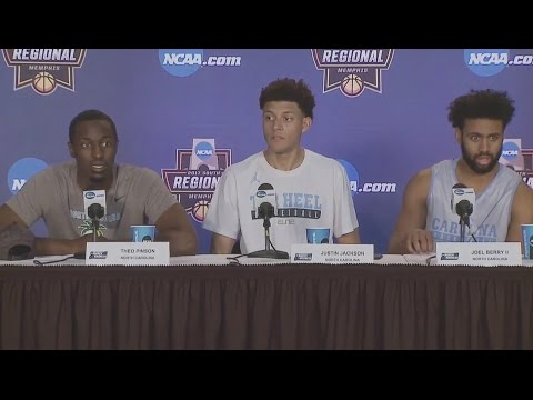 UNC Men's Basketball: Berry, Jackson & Pinson pre-Butler PC
