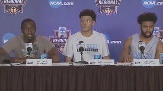 UNC Men's Basketball: Berry, Jackson & Pinson pre-Butler PC