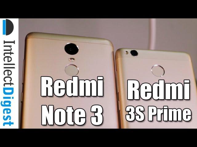 Xiaomi Redmi 3S Prime and Xiaomi Redmi Note 3 - Comparison