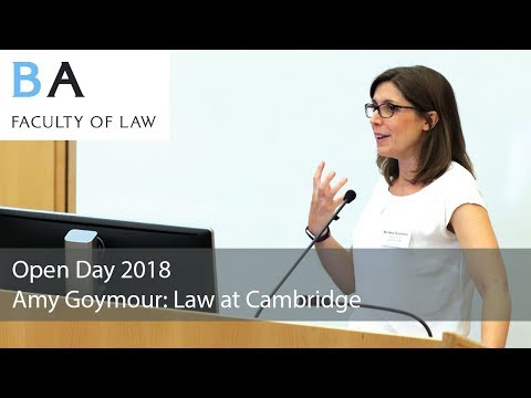 Law at Cambridge: Ms Amy Goymour 2018