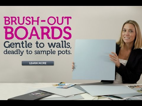 Brush-out Boards: the best way to test paint colours