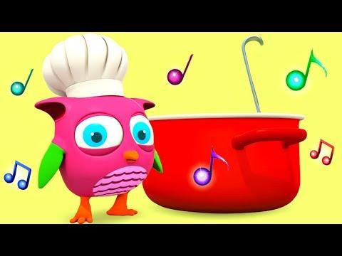 Розовый совенок Хоп Хоп поёт песенки для самых маленьких