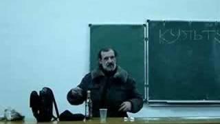 Препод в ПТУ пьет водку прямо на лекции.