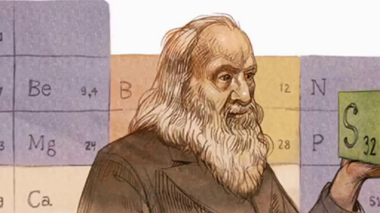 Dmitri mendeleev doodle google honors russian chemist dmitri dmitri mendeleev doodle google honors russian chemist dmitri mendeleev on his 182nd birthday youtube urtaz Image collections