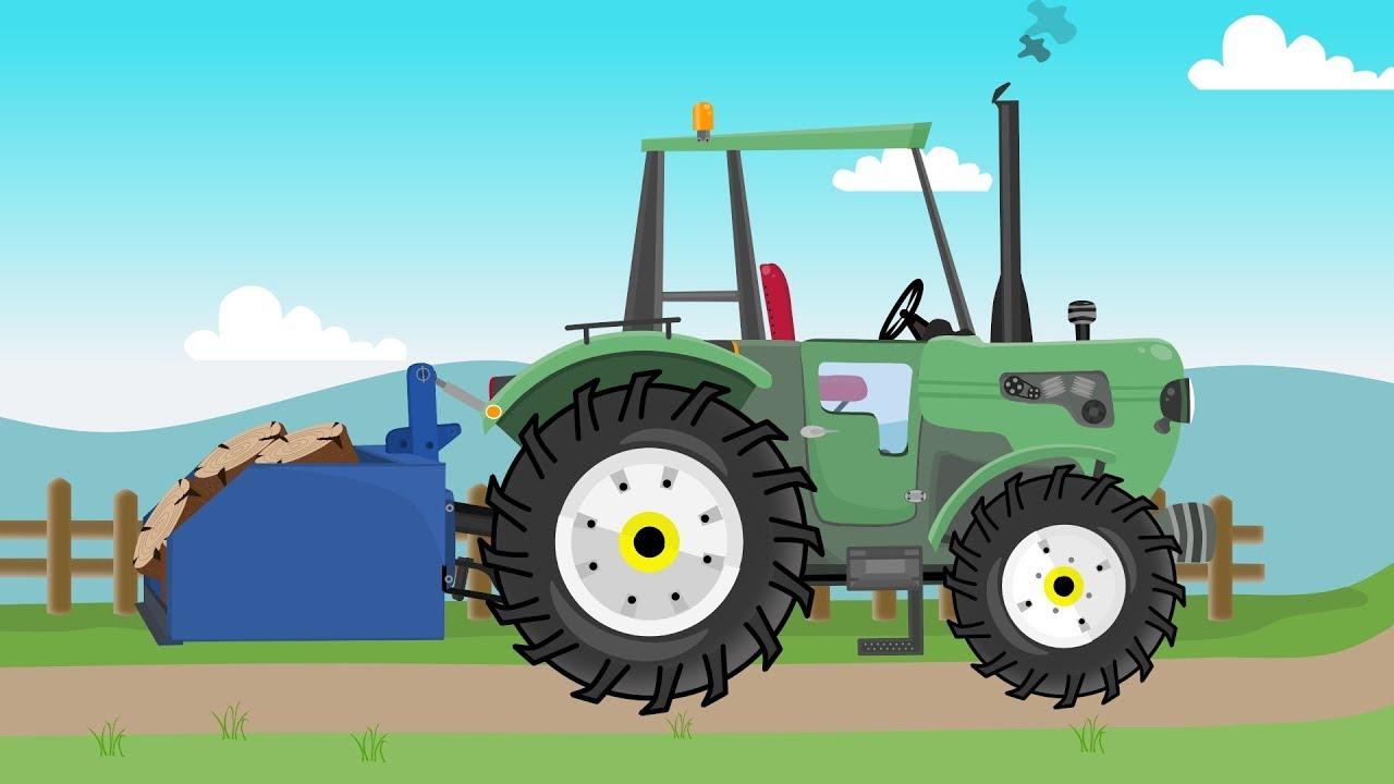 Brave green #Tractor works on the farm | Different machines | Dzielny Zielony Traktor Bajka