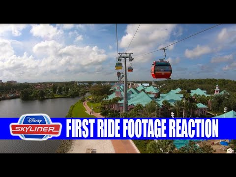 Disney Skyliner First Official Disney Ride Footage Inside The Gondolas - My Reaction