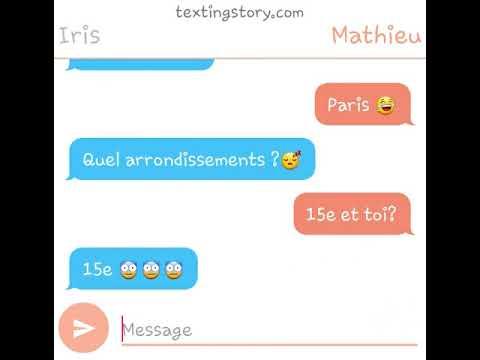 Histoire d'amour par sms
