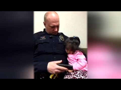 Thumbnail: 2-Year-Old Girl Falls Asleep in Cop's Arms After He Offered to Babysit