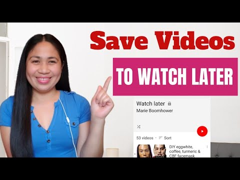 How To Save Videos From PLAYLIST to Watch Later Using Mobile Phone