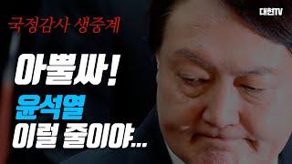 국정감사 생중계/ 윤석열의 충격 발언 나올까  [김대현…