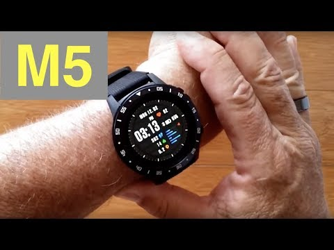 anmino-m5-gps,-blood-pressure,-breath-training-ip67-waterproof-smartwatch:-unboxing-and-1st-look