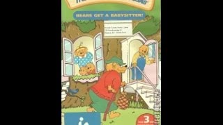 Opening To The Berenstain Bears:Bears Get A Babysitter! 2004 VHS