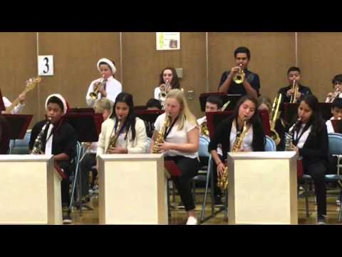 """Incline Middle School Jazz Band Performs """"Uptown Funk"""""""
