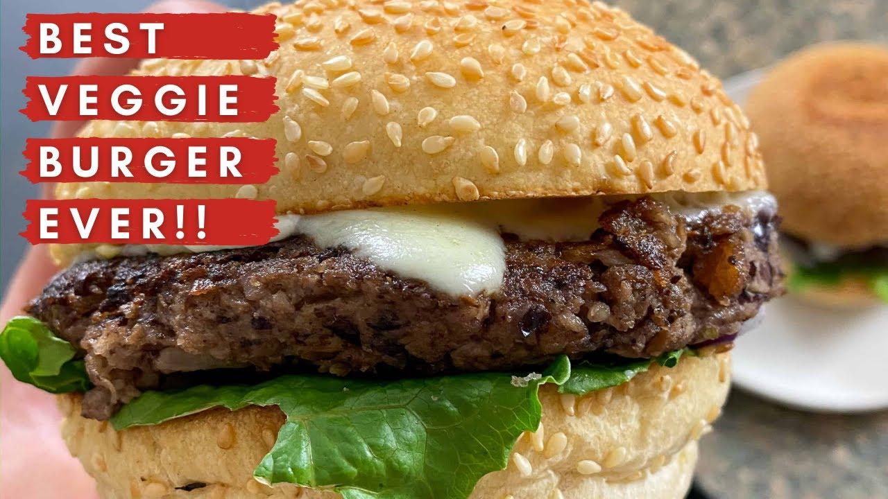 Mushroom Walnut Burgers | My Best Veggie Burger Recipe