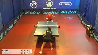 Настольный теннис матч 210718 12  Власова Елизавета  Федорова Арина