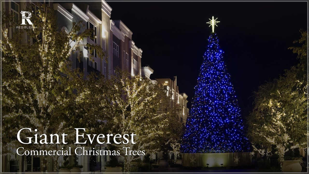 Commercial Christmas Tree.Giant Everest Tower Tree Outdoor Commercial Christmas Tree