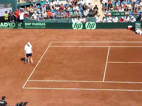 Andy Roddick Serve v Nicolas Massú Copa Davis