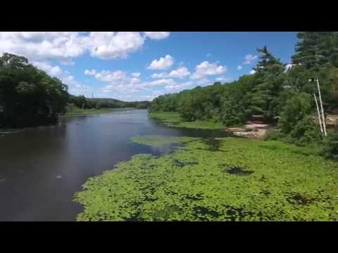 Droning in Newton, MA -- Auburndale Park / Charles River