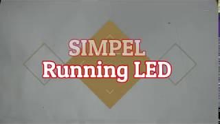 KEREEEN!!!!!!!  SIMPEL..   Running LED, LED chaser dengan ic 4017.
