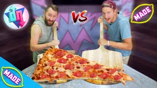 We Made a Giant Pizza Slice! Ft. Matthias!