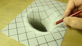 Drawing Hole Illusion - Trick Art with Charcoal Pencil - Vamos