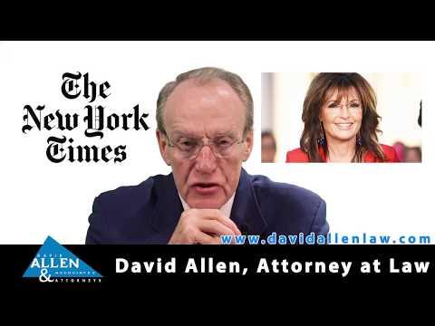 David Allen Legal Tuesday: Defamation and Public Figures